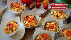 bacon, cherry tomato and fresh herb muffins