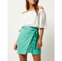 Bright Green, Wrap Style, Short Dresses, Mini Skirts, River Island, Model, Fashion, Short Gowns, Moda