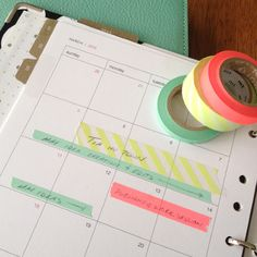 Organization Inspiration: Use Washi Tape on Your Planner  This is a ridiculously good idea.