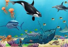 Underwater mural 8x12' Fine Art,