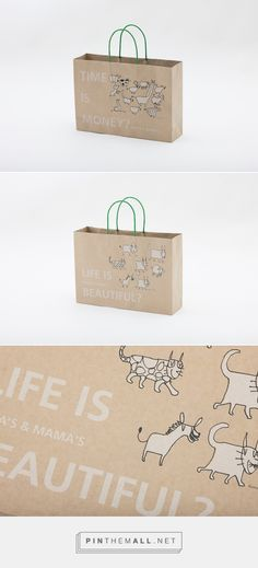 642b712a658 Retail Bags, Paper Shopping Bag, Clever Design, Packaging Ideas, Corporate  Design, Kitty Kitty, Package Design, Gift Wrapping, Delicate
