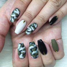 Pin By Ashley Ferrer On Nails Pinterest Camo Manicure And Nail Bar