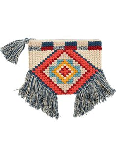 Hippie Bags, Boho Bags, Bag Patterns To Sew, Weaving Patterns, Felt Hair Accessories, Crochet Shoulder Bags, Diy Purse, Clutch Purse, Flower Bag