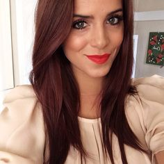 LOVE this reddish chestnut brown hair color Julia Engel (Gal Meets Glam) @juliahengel Instagram photos | Webstagram