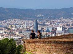 Vue depuis le Montjuic, Barcelone
