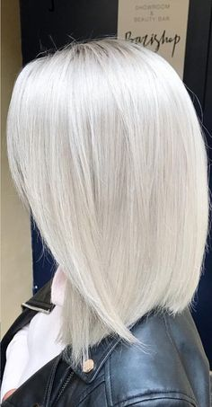 Pinterest: DEBORAHPRAHA ♥️ white silver platinum blonde hair color #platinum #silver #haircolor
