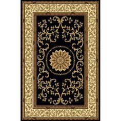 The Conestoga Trading Co. Jordan Black Area Rug Rug Size: