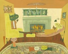 The cat family relaxes original painting by Matte Stephens