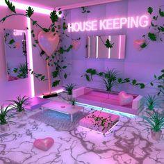 Cheap Home Decor .Cheap Home Decor Neon Bedroom, Room Decor Bedroom, Bedroom Ideas, Trendy Bedroom, Deco Rose, Cute Room Decor, Neon Room Decor, Aesthetic Room Decor, Aesthetic Outfit
