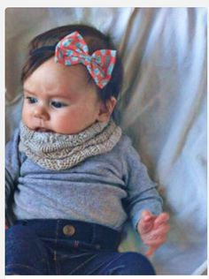Winter time! Inspiration for a baby cowl