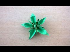 Five petal origami flower v14 - YouTube