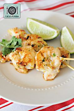 Jamie Oliver's recipe converted for the Thermomix - Asian Style Prawns on Skewers