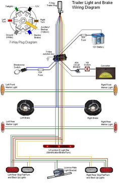 43 best trailer wiring diagram images in 2019 trailer build rh pinterest com