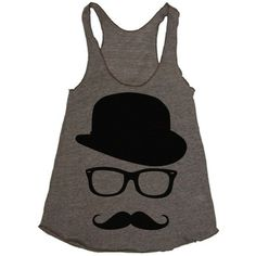 Movember Style | moustache fashion | moustache tank