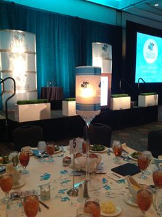 Add Logo Lamps to your next corporate function.