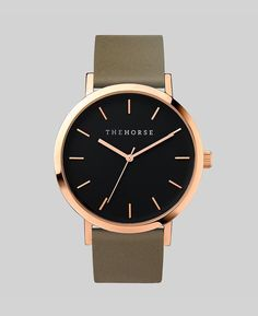 The Horse | The Original Watch | Polished Rose Gold / Black Face