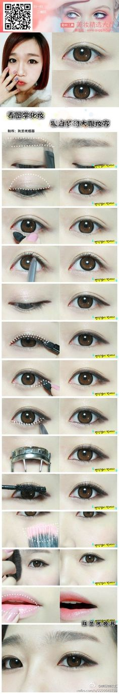 Korean Makeup Tutorial - Feminine Hanbok Makeup by Heizle - Korean Makeup Makeup Korean Style, Asian Makeup Looks, Korean Eye Makeup, Asian Make Up, Korean Make Up, Eye Make Up, Asian Makeup Tutorials, Makeup Tips, Beauty Makeup