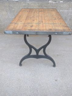 Reclaimed industrial dining table on cast iron vintage legs in Home, Furniture & DIY, Furniture, Tables   eBay!
