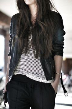 Black and white #style #fashion