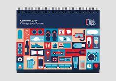 Wall Street English Calendar 2014 on Behance