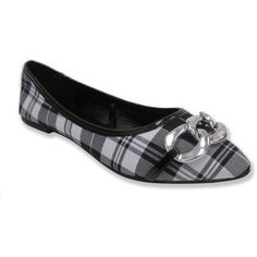 Olivia Miller Women's 'Claire' Plaid Pointy Toe Ballet Flats