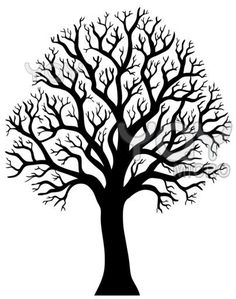 Silhouette of tree without leaf 2