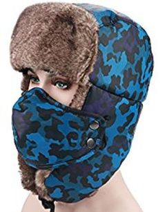 Unisex Winter Hat PADEK Trapper Hat Ear Flap Cap Ski Mask Hunting Russian Hat #CAP #AviatorTrapper