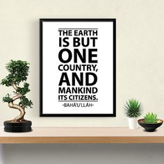 BAHA'i INSPIRATIONAL QUOTE: The Earth is but by SafaristaDesign