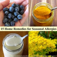 Natural Allergy Relief - 15 Home Remedies for Seasonal Allergies Home remedies for seasonal allergies and hay fever. Feel better soon with these easy to use natural allergy relief options. Home Remedies For Allergies, Allergy Remedies, Allergy Symptoms, Natural Health Remedies, Herbal Remedies, Sinus Remedies, Natural Cures, Holistic Remedies, Holistic Healing