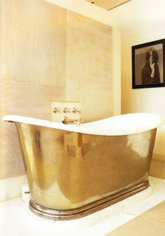 10 Glamorous Luxury Bathrooms with Golden Touch - Hoping to strike gold with your luxury bathroom decor? Do you want to add a bit of glamour and luxury to your Gold Everything, Interior Decorating, Interior Design, Gold Interior, Pastel Interior, Design Interiors, Interior Ideas, Decoration Inspiration, Stay Gold