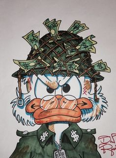 Scrooge McDuck – Soldier of Fortune by DoN Rosa Cartoon Wallpaper, Cool Wallpaper, Dope Cartoons, Disney Cartoons, Cartoon Kunst, Cartoon Art, Disney Kunst, Disney Art, Disney Drawings
