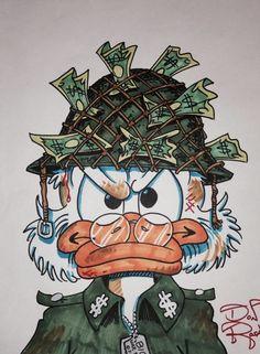 Scrooge McDuck – Soldier of Fortune by DoN Rosa Dope Cartoons, Dope Cartoon Art, Cartoon Kunst, Disney Drawings, Cartoon Drawings, Art Drawings, Disney Kunst, Disney Art, Cartoon Wallpaper