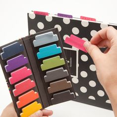 30 Silly Office Supplies Guaranteed to Make You Smile via Brit + Co.    Sticky Tab Dividers ($8): Label different sections of your notebooks with these sticky tabs. Just think of it as color blocking your notes.