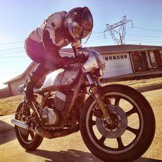metal girl #cafe #motorcycle #moto