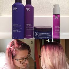 It has been exactly 5 weeks since I've been to the salon to get my hair done. The purple in my hair now (picture on the left) looks like I have just walked out of the salon! 5 WEEKS LATER! Incredible! This is thanks to our Pure Vibrance products! Get your own set today! Message me and learn how to save 20%! www.elenadiperri.arbonne.com #purplehairdontcare #colorthatlasts #haircare #purevibrance #puresafebeneficial