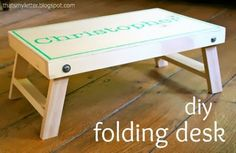 Ana White | Build a Folding Lap Desk | Free and Easy DIY Project and Furniture Plans