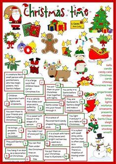Christmas Tree And Santa, English Christmas, Christmas Games, Christmas Activities, Kids Christmas, Xmas, Merry Christmas, Christmas Greetings, Christmas Definition