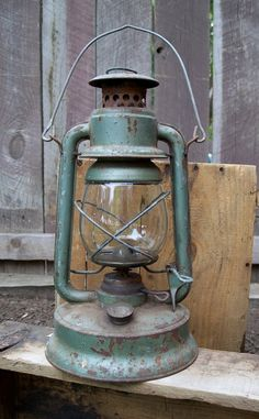 old lantern (love the color)!