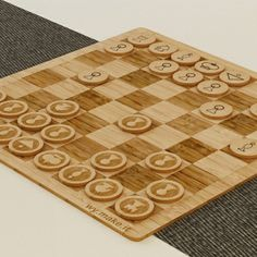 Laser cut bamboo chess set by Denise Kim Wy, via Behance