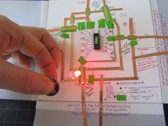 Copper tape soft circuity.