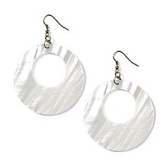 Shell Circle Drop Earrings
