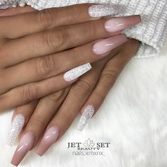 "✨ REPOST - - • - - Ombre and Glitter on long Coffin Nails - - • - - Picture and Nail Design by @nails.xmxnx_ Follow her for more gorgeous nail art designs! @nails.xmxnx_ @nails.xmxnx_ - - • - - Products used: @jet_set_beauty_nails ""Frosted Pink"" Modellage Gel, ""Hazelnut"" Colour Gel @lightelegancehq ""Diamond"" Glitter Gel - - • - - #ombrenails #nudeombre #glitternails #longnails #coffinnails #nails #nailart #glam #gelnails #stylish #gelnail #instaglam #gelpolish #instabeauty #ge..."