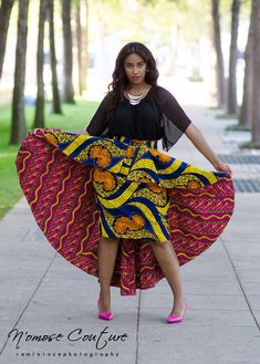 La jupe de Ivie High Low ~Latest African Fashion, African Prints, African fashion styles, African clothing, Nigerian style, Ghanaian fashion, African women dresses, African Bags, African shoes, Kitenge, Gele, Nigerian fashion, Ankara, Aso okè, Kenté, brocade. ~DK