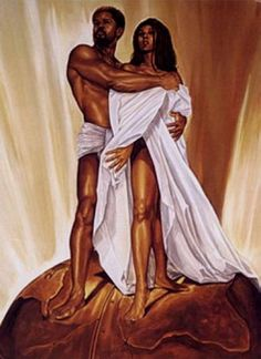 Never knew there was a third painting, this would complete my series ~ Black Love art   black love 3 by WAK