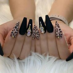 Cute acrylic nails also known as artificial nails or faux nails are great timesavers. They cover broken nails. If you have weak nails, artificial nails will help you. They are a great canvas for… Matte Acrylic Nails, Acrylic Nail Designs, Nail Art Designs, Nails Design, Acrylic Art, Cheetah Nail Designs, Nail Swag, Dope Nails, My Nails