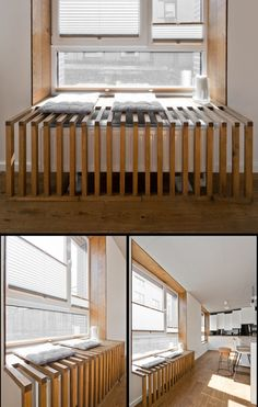 Home Designing — (via Radiator Design) window ideas Chic Scandinavian Loft Interior Interior Design Color Schemes, Salon Interior Design, Interior Decorating, Loft Design, House Design, Design Design, Scandinavian Loft, Designer Radiator, Loft Interiors