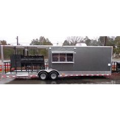 New 8.5 x 30 Charcoal Grey Smoker Grill Catering Enclosed BBQ Concession Trailer | 19251smoker | RP: $27,475.00, SP: $27,475.00