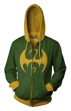 Iron Fist Cool Printed Cosplay Costume Long Sleeve Zip Up Casual Hoodie Super Hero Outfits, Cool Outfits, Marvel Hoodies, Moda Geek, Iron Fist Marvel, Moda Pop, Geek Fashion, Lolita Fashion, Cool Jackets