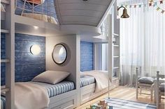 Rustic Italian Decor Bedroom: Nautical Room Design Ideas For Your Kid