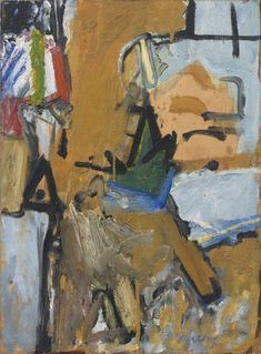 Pat Passlof, Spire, 1958, oil on paper mounted on canvas, 31 x 23 inches (courtesy of Elizabeth Harris Gallery)